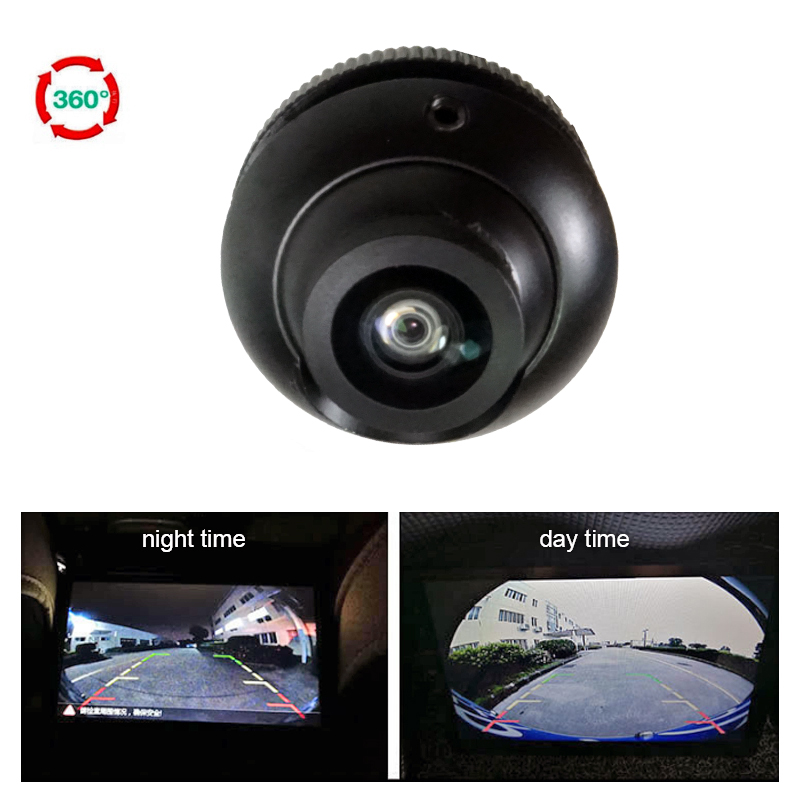 180 Degree Super Wide Angle Fisheye Camera Car Front&Side&Rear View Camera HD Night Vision 360 Rotation Parking Camera