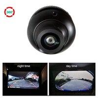 180 Degree Super Wide Angle Fisheye Camera Car Front&Side&Rear View Camera HD Night Vision 360 rotation parking camera