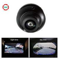 Cámara de ojo de pez de gran angular de 180 grados cámara de visión delantera y lateral y trasera HD de visión nocturna cámara de aparcamiento de rotación 360