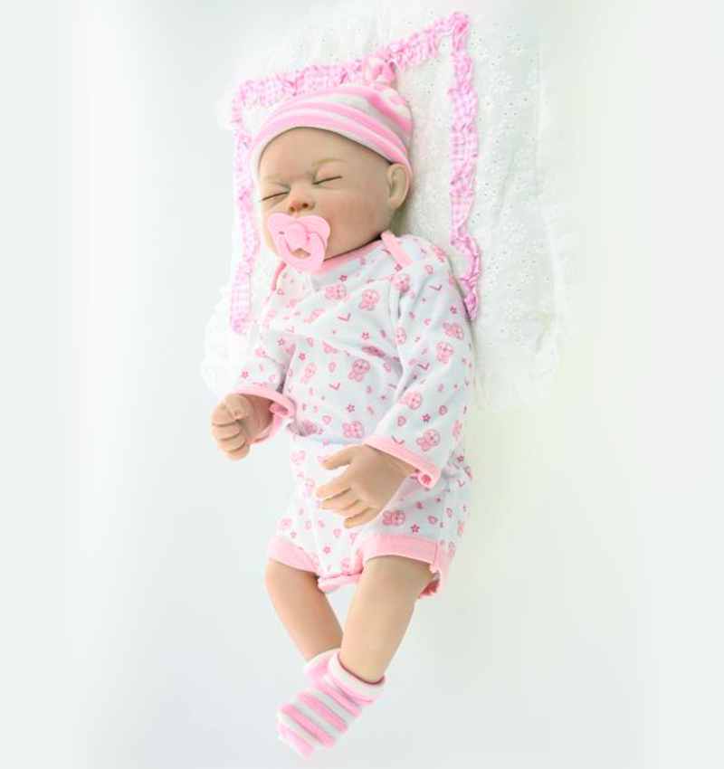 20inch Lifelike Full Body Silicone Reborn Baby Girl Doll