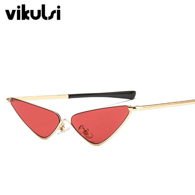 9b885e17edd 2019 New Triangle Modern Cat Eye Sunglasses Cool 90s Women Brand Designer Retro  Vintage Tint Red