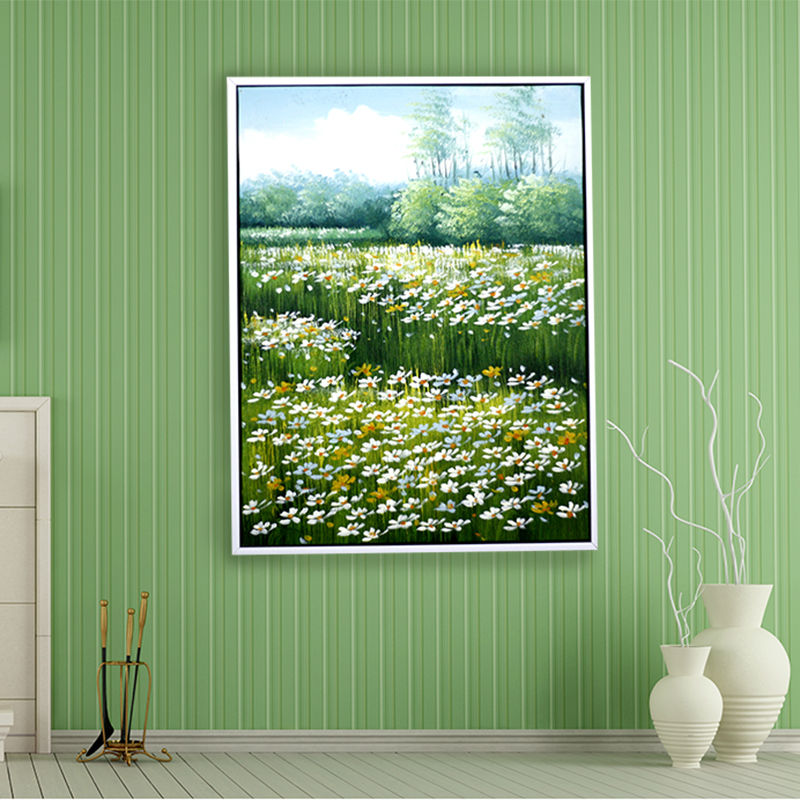 hand painted oil painting on canvas daisy flowers unframed