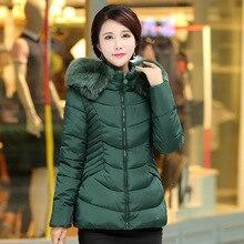 2016 осень и зима женская парки меховым воротником новый Корейский Slim Down ватник толстый слой женский завода оптовая 7460