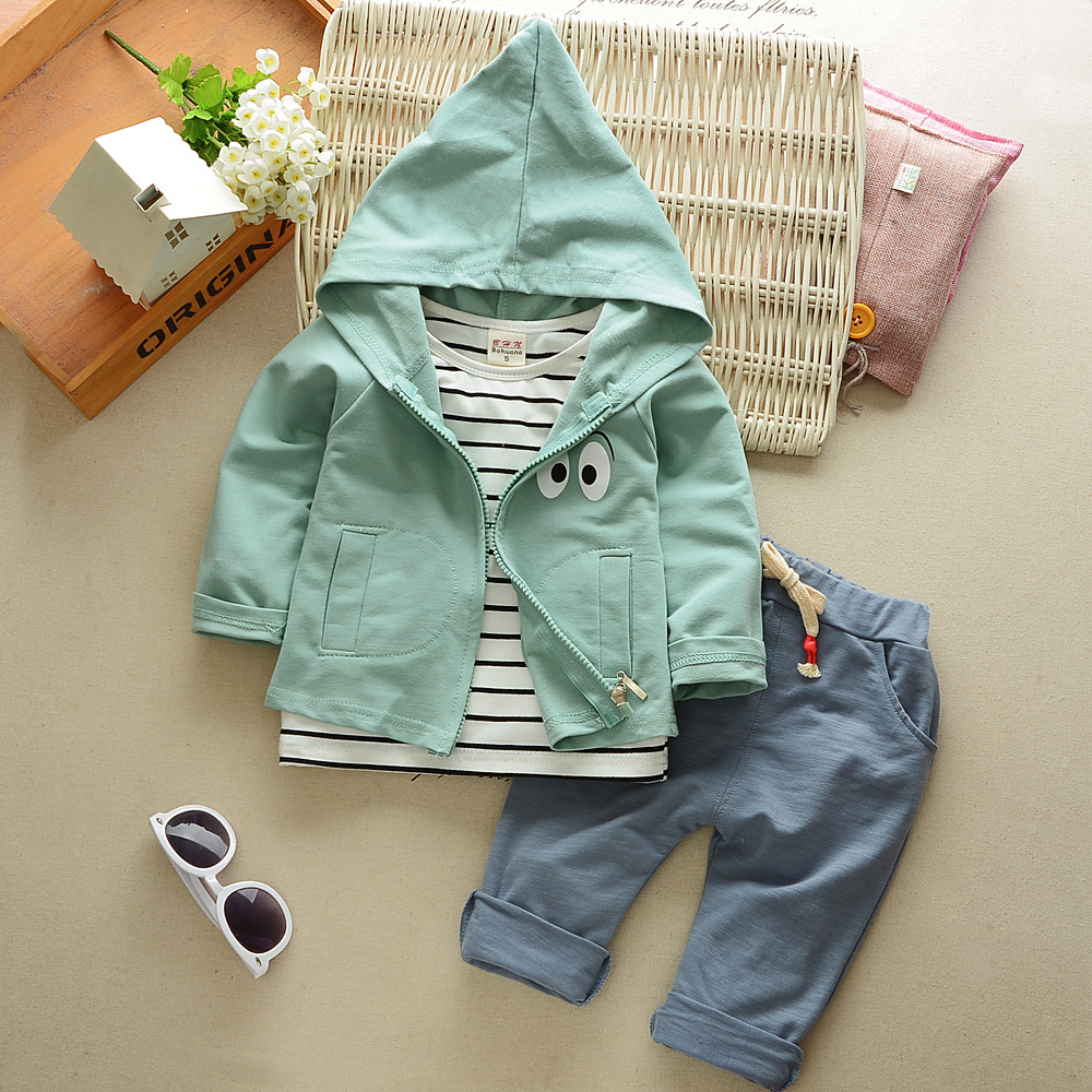 baby clothing set cotton autumn hoodies + pants + t shirt ...