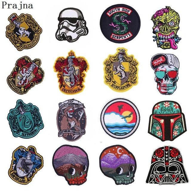 Prajna Goth Buddha Harry Potter Iron On Patches Stickers