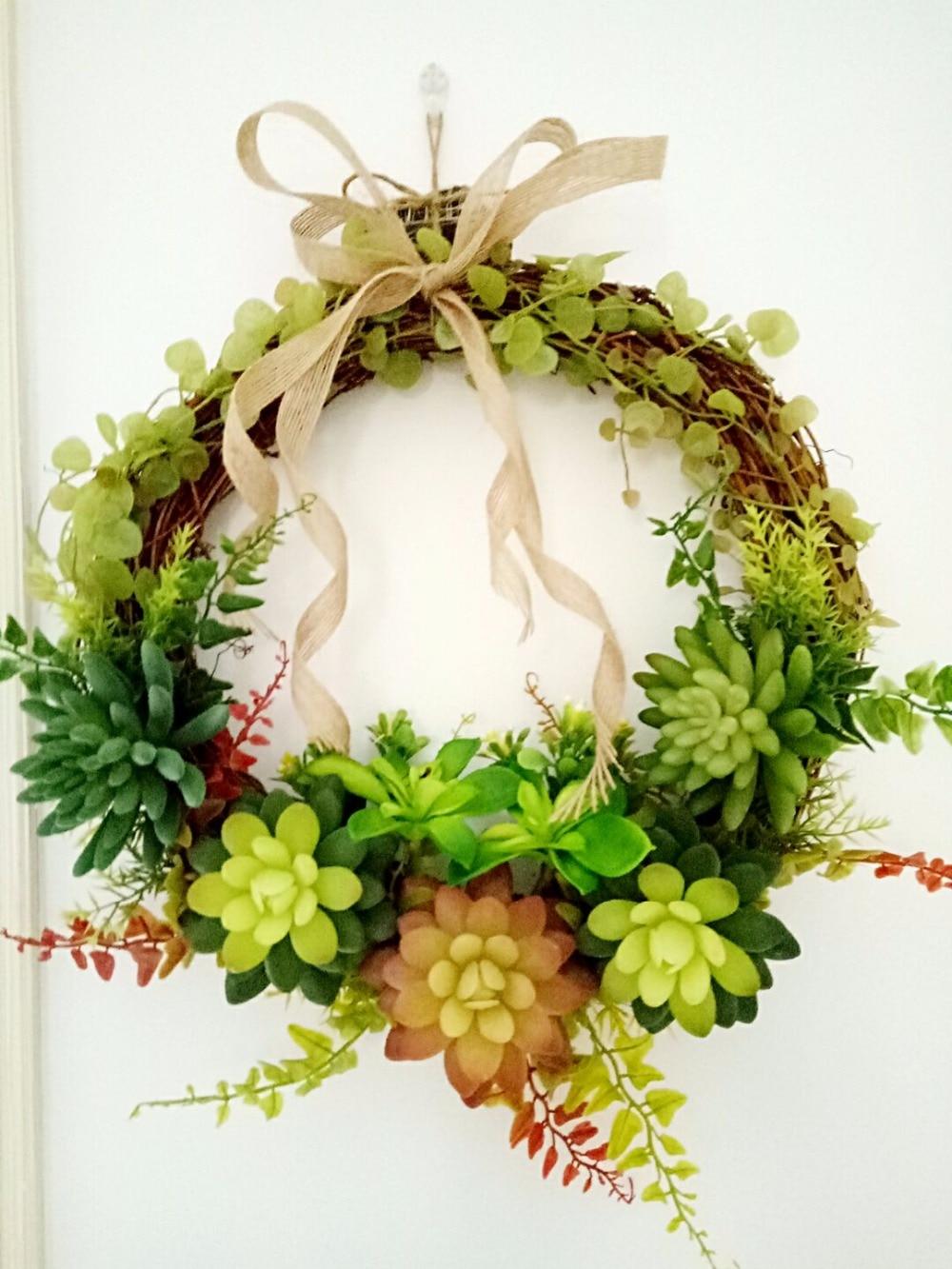 Artificial Succulent plants bowknot Door lintel Flower