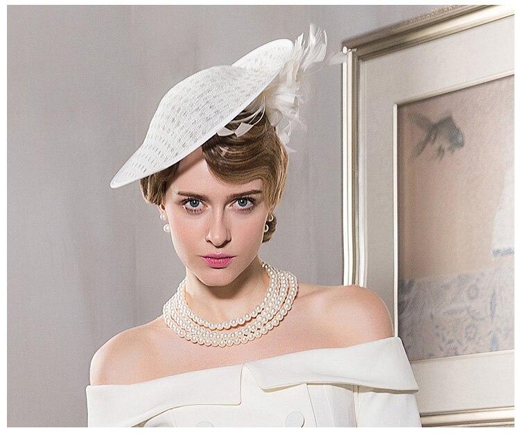 d1f8536f64992 FS Fascinators Ladies Hats For Weddings White Feather Pillbox Hat ...