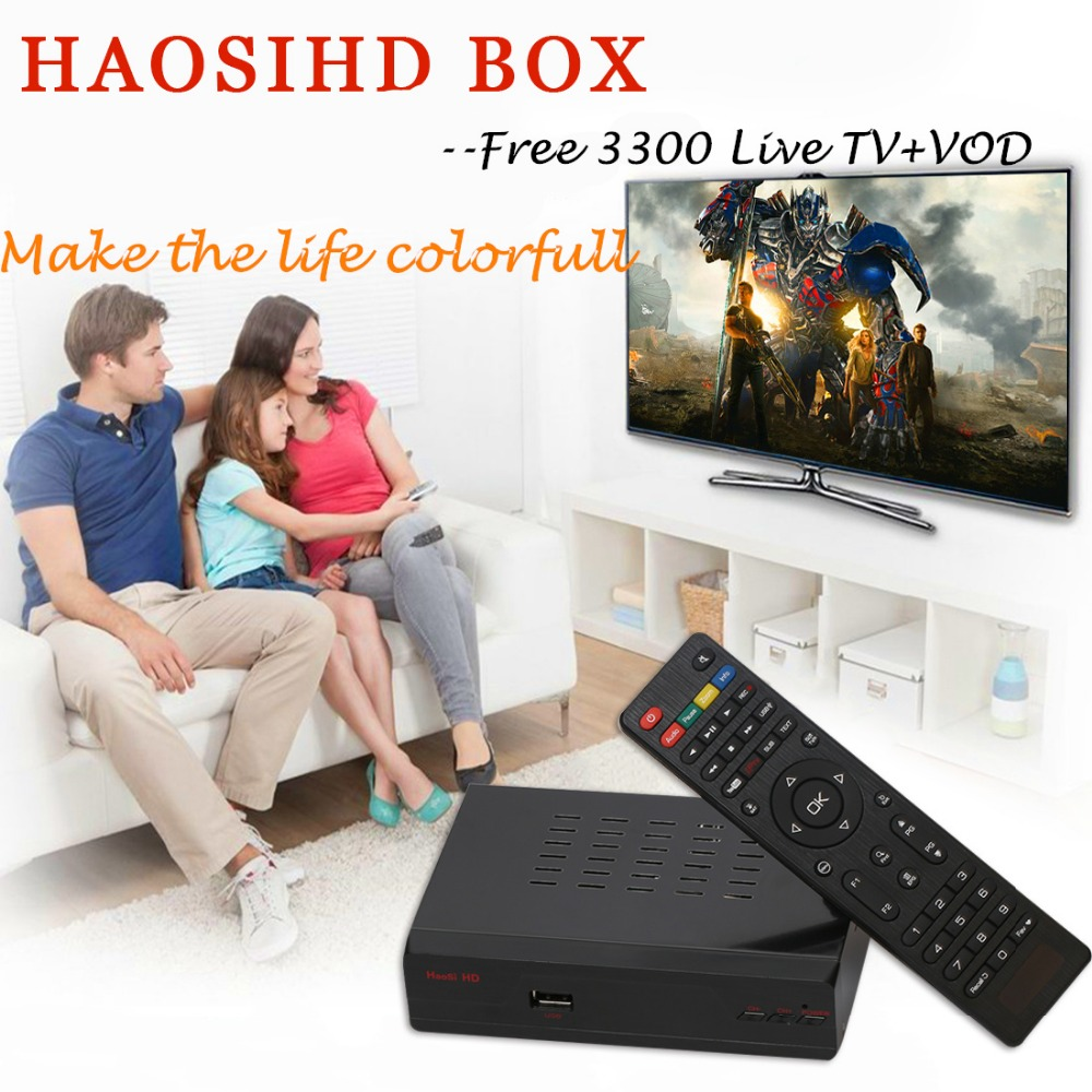 New/ Renew HAOSIHD R1 IPTV box receiver free 3300 europe portugal <font><b>belgium</b></font> ireland live tv with VOD image