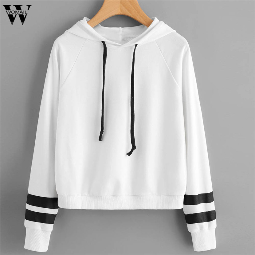 WOMAIL Crop Top Hoodie Causal Female 2018 New Tops Women Hooded Girl O-Neck Hoodies Jumper Sweatshirts Pullovers Hoody Gifts