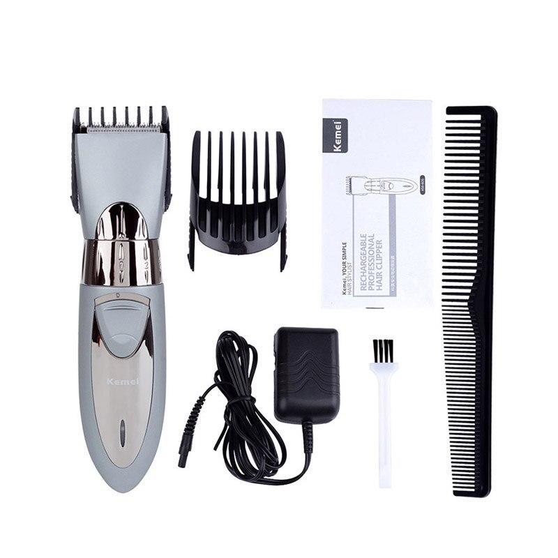 Kemei tondeuse à cheveux électrique tondeuse coupe cheveux barbe outils de coiffure coupe machine trimer rechargeable 5