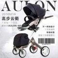 Aulon relata calidad luz carretilla niño de cuatro ruedas del cochecito de bebé plegable