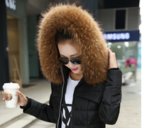 Ultralarge real fur collar raccoon hats fur raccoon fur collar fox fur collar scarf muffler scarf