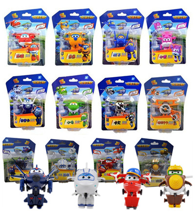 12pcs/set Super Wings Mini Airplane ABS Robot toys Action Figures Super Wing Transformation Jet Animation Children Kids Gift-in Action & Toy Figures from Toys & Hobbies    1