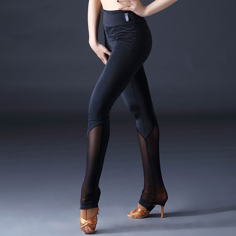 Ballroom Latin Dance Pants Salsa Dress Modern Dancing Clothes Woman Black Tight Pants Dancer Cha Cha