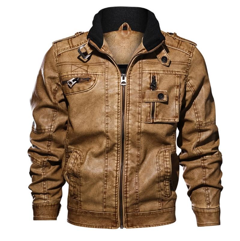 Jackets Jackets & Coats Cheap Sale Plus Size 5xl Mens Leather Jacket Slim Fit Pu Biker Motorcycle Warm Bomber Coat Outwear Overcoat High Quality