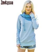 YSMARKET Women Hoodies Sweatshirts Green Duotone Chic Hooded Sweatshirt Autumn Winter Female Clothing For Girs V2502440