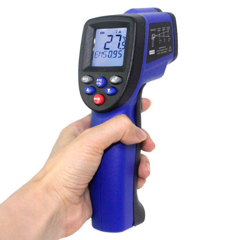 IR Infrared Temperature Tester Thermometer Laser Gun -50-700 Degree 12:1 Non-Contact Digital LCD Industrial Pyrometer Brand New  цены