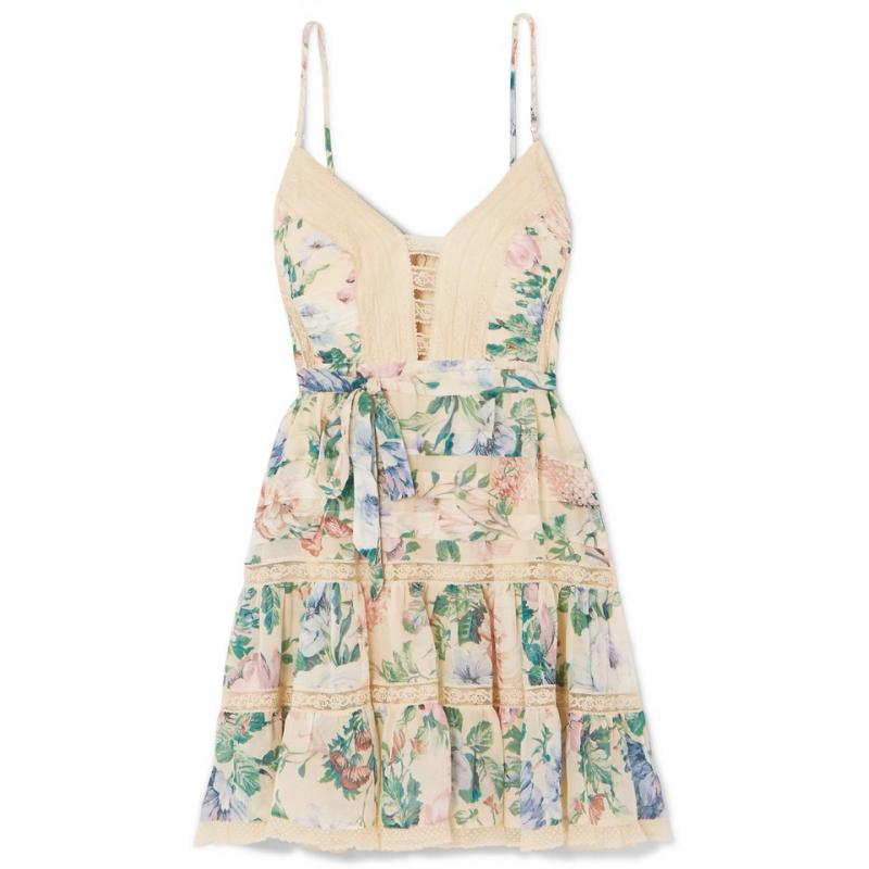 Hm-illusory summer dressLace edge 2019 nouvelle robe de plage nom vacances mer avec fée Air bourgeons couture vestd robe femmes robe - 3