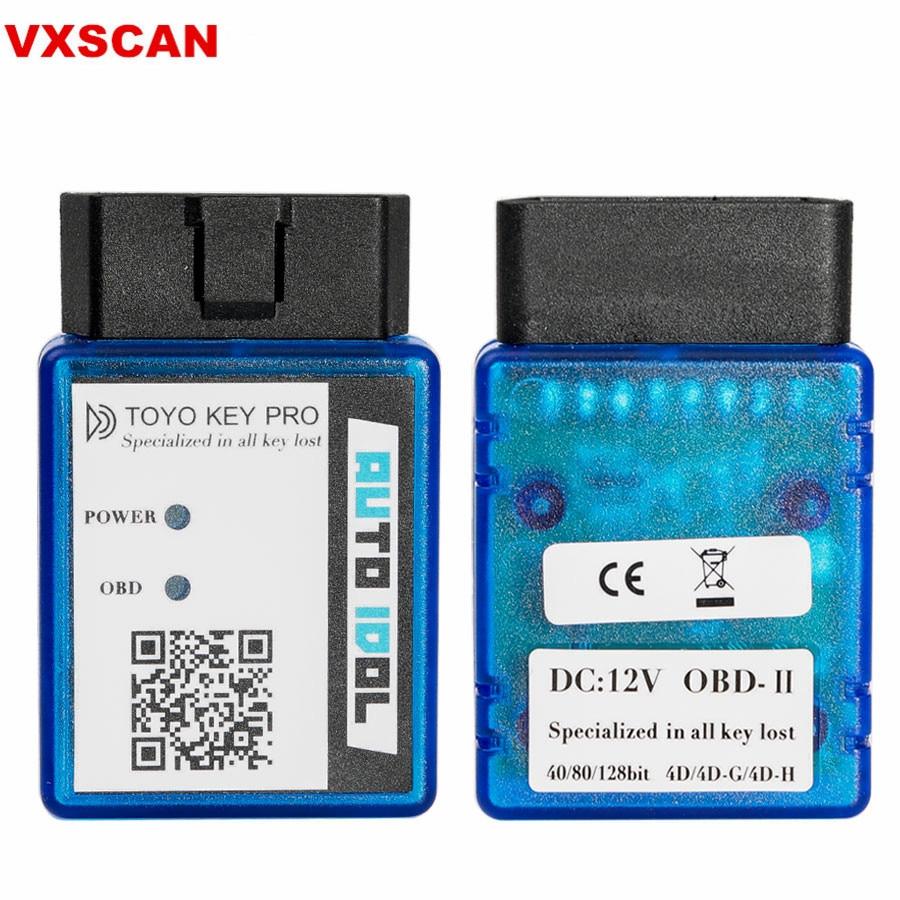 TOYO CLÉ PRO OBD II Auto Clé Programmeur Pour Toyota 40/80/128 PEU (4D 4D-G 4D-H) toute la Clef Perdue (plug-and-play) travail avec CN900 Mini