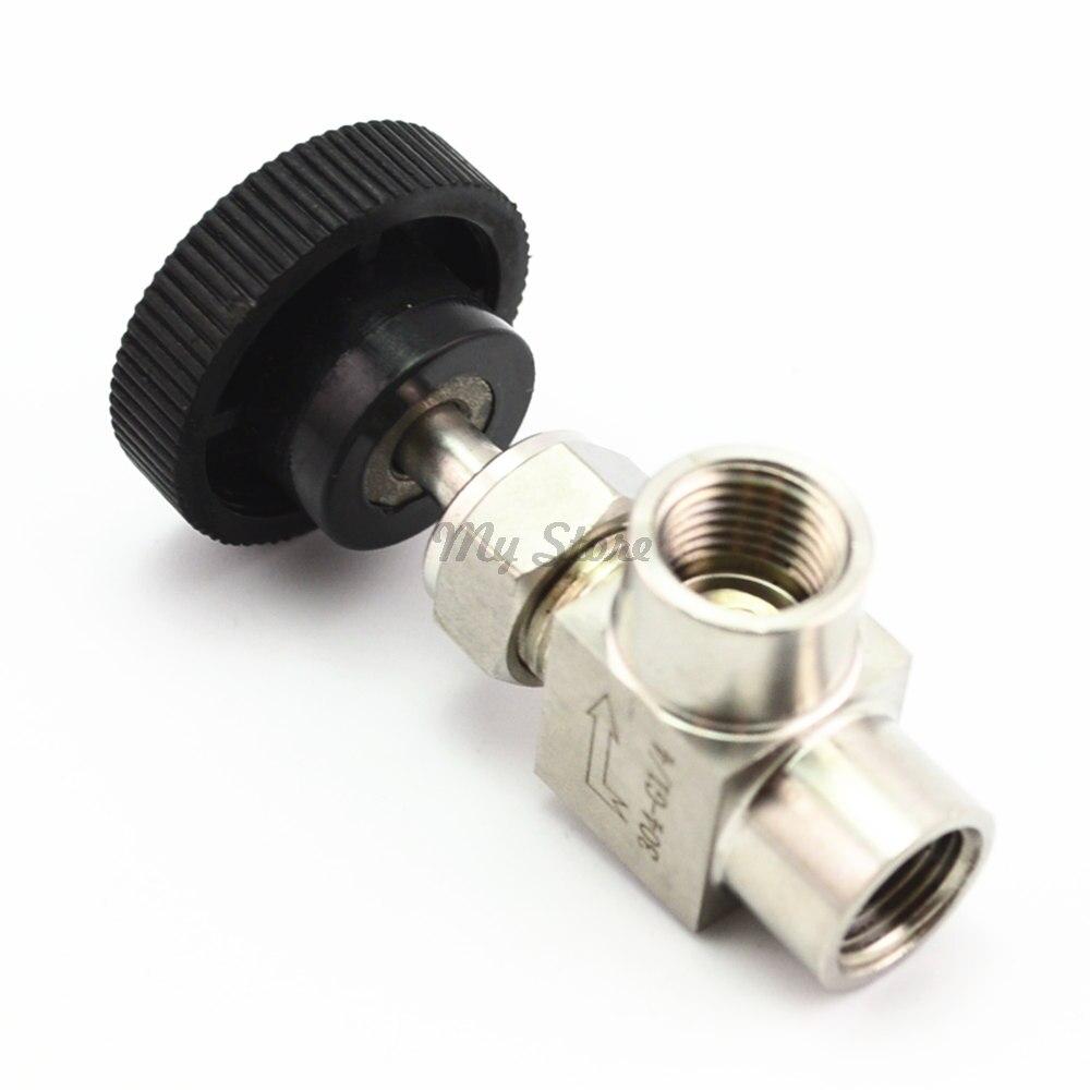 Kostenloser Versand Edelstahl 304 Nadelventil 1/8 ''1/4'' 1/2 ''Rechtwinklig Innengewinde BSP SS304 Für wasser Gas Öl