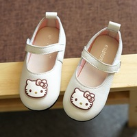 Sweet Cartoon Shoes For Girls Sneakers Soft Sole Kids Flats Loafers Shoes Cute Hello Kitty Princess