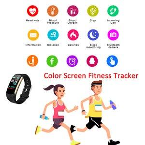 Image 5 - HORUG Bracelet intelligent de remise en forme Bracelet de Fitness Tracker Bracelet intelligent activité pression artérielle podomètre Sport moniteur de fréquence cardiaque