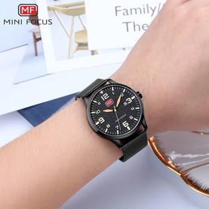 Image 3 - MINI FOCUS Men Watches Stainless Steel Waterproof Luxury Brand Fashion Quartz Watch Relogio Masculino Reloj Hombre  Montre Homme