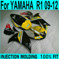 Decal & Fairing kit For YAMAHA R1 09 12 Fairings ( Yellow ) Injection +7gifts ll65