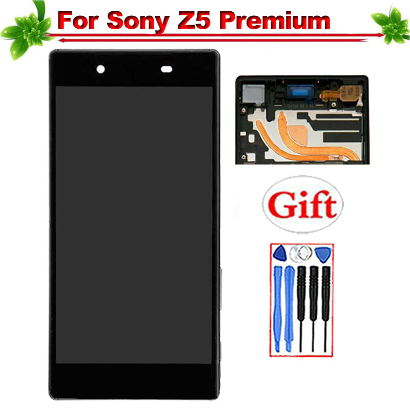 With Frame for SONY Xperia Z5 Premium LCD Display Touch Screen Digitizer Assembly Replacement for SONY Z5 Premium LCD DisplayWith Frame for SONY Xperia Z5 Premium LCD Display Touch Screen Digitizer Assembly Replacement for SONY Z5 Premium LCD Display