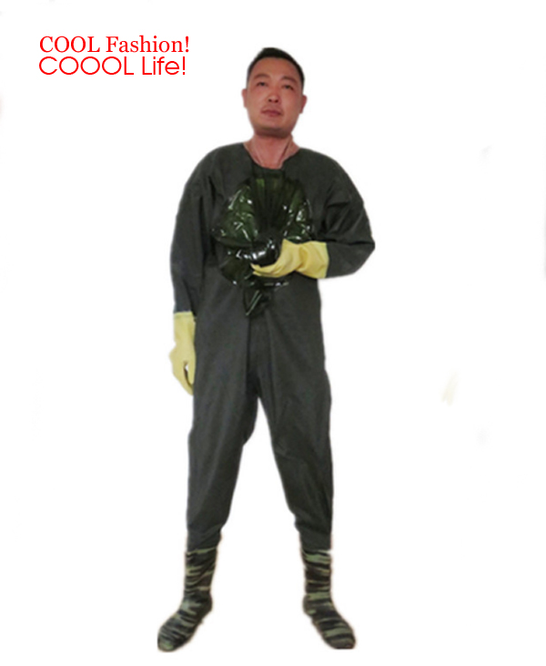 Waterproof Breathable Chest Waders Winter Fishing Overalls Camouflage Hunting camo <font><b>Boots</b></font> waterproof suit fish shoes pesca