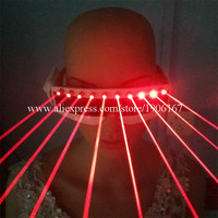 2016 Cool Red Laser Laserman Glasses With 10pcs Red Lasers Luminous Eyewear For Party Night Club