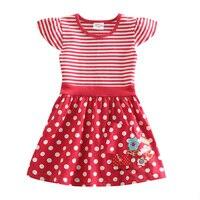 birthday dresses for baby girls Kid dresses children 2-6 years fashion red white striped s kids wear vestidos infantis clothes