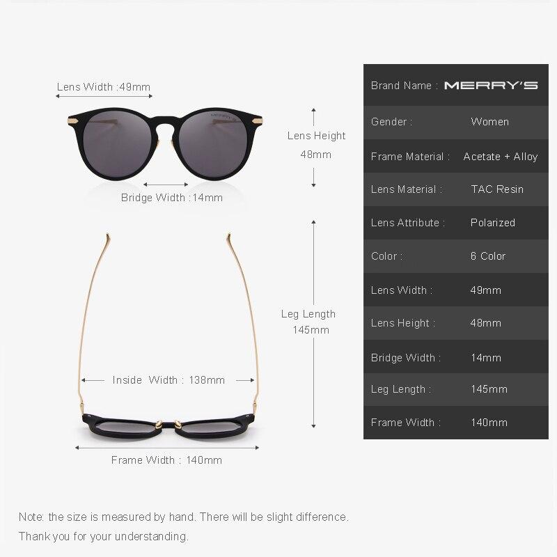 MERRY S Olho de Gato Óculos Polarizados Mulheres Designer de Marca Óculos  De Sol 100% Proteção UV S 6101 em Óculos de sol de Das mulheres Roupas ... 457946d755