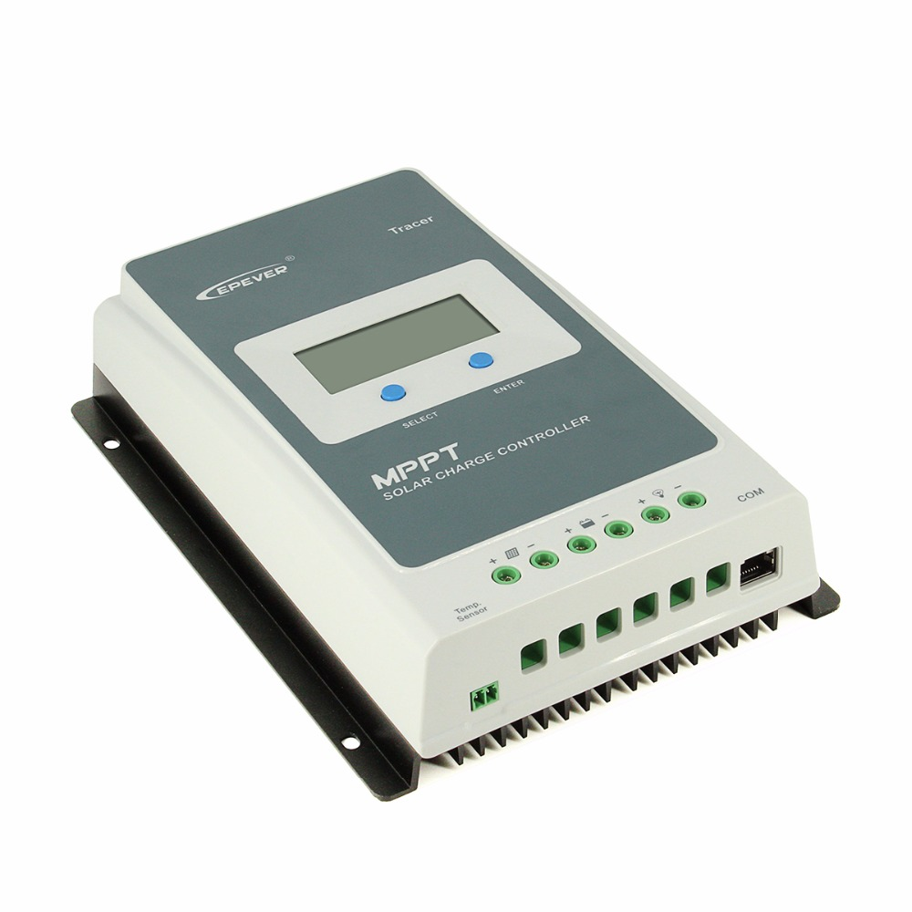 Tracer 1210AN Set EPEVER/® 10A MPPT Regolatore di Carica Solare 12V//24V Regolatore di Carica Solare Intelligente con MT50 Misuratore Remoto e Sensore di Temperatura e Cavo RS485