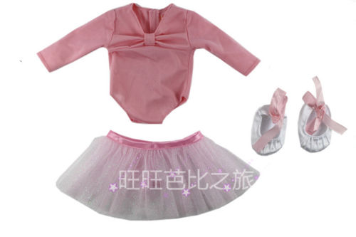 1 set Doll Clothes for 18 Inch American Girl Fashion Pink Ballet dress