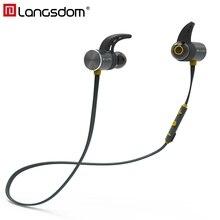 Langsdom Wireless Headphone Bluetooth IPX5 Waterproof Earbuds Magnetic Bluetooth Headset Earphones with Mic For Phone Sport