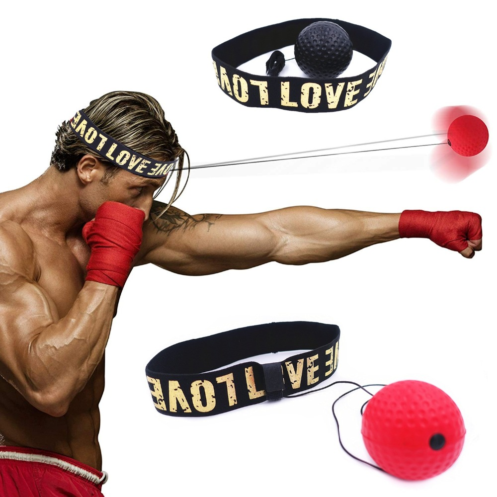 Boxing Reflex Speed Ball With Headband MMA Muay Thai Fight Ball Exercise Improving Speed Reactions Punch Boxing Training