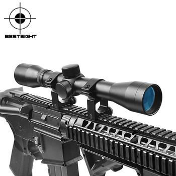 Mira telescópica táctica 4X32 mira óptica mira telescópica compacta miras de caza con 20mm/11mm soportes de riel