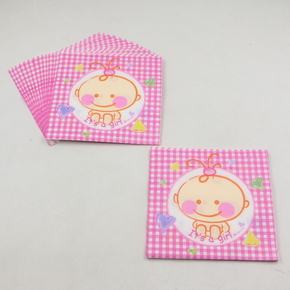 Lovely Baby Paper Napkins Girl Kids Favors Party Handkerchief ...