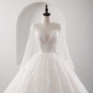 Image 3 - Fansmile 새로운 환상 빈티지 품질 레이스 웨딩 드레스 2020 공 가운 공주 신부 웨딩 드레스 Vestido De Noiva FSM 559F