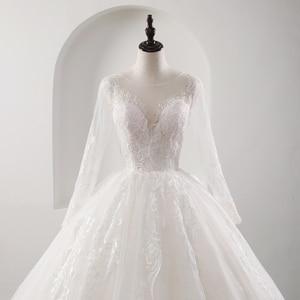 Image 3 - Fansmile New Illusion Vintage Quality Lace Wedding Dress 2020 Ball Gown Princess Bridal Wedding Gowns Vestido De Noiva FSM 559F