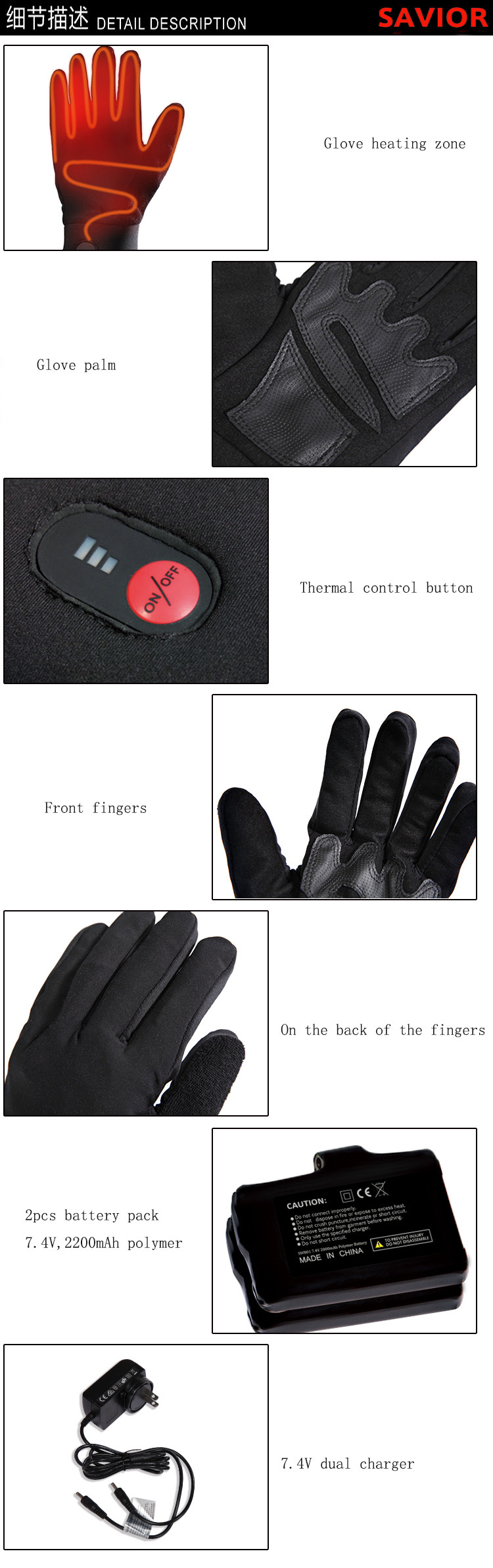 Motorcycle Hunting Skiing Gloves (6)