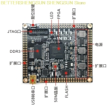 цена на XILINX FPGA core board XC6SLX16 development board DDR3