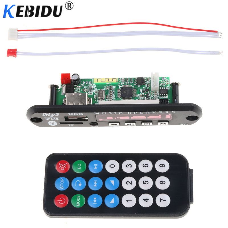 Tragbares Audio & Video Kebidu Drahtlose Bluetooth Mp3 Player Fm Aux Tf Karte Usb 2.0 Decoder Board Modul 12 V Fernbedienung 3,5mm Für Iphone Smartphone