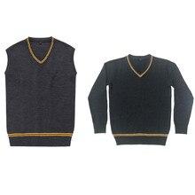Wholesale Sweater V-neck Vest Uniforms Magic Sweater Long Sleeve Magic Robe Cloak Cosplay Costume