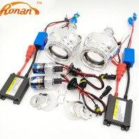 RONAN 2 5 HID Bi Xenon Projector Headlight Lens LHD RHD H1 H4 H7 LED3528SMD Angel