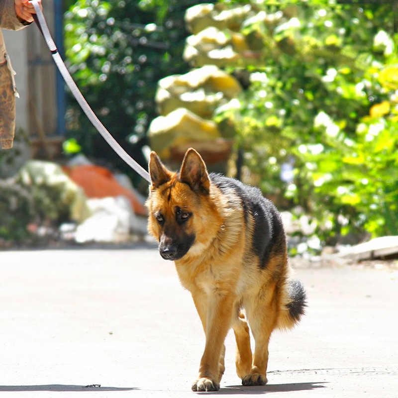 1,1 м/1,6 м поводок из натуральной кожи для больших собак поводок для прогулок поводок для собак для немецкой овчарки золотистый ретривер средние и большие собаки