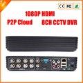 8CH D1 CCTV DVR con P2P nube, supervisión de la red, supervisión del teléfono móvil
