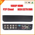 8CH DVR FULL D1 Standalone CCTV DVR Recorder com P2P nuvem, Monitoramento de rede, Monitoramento de telefone celular