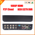 8CH DVR FULL D1 Standalone CCTV DVR Recorder with P2P Cloud, Network Monitoring, Mobile Phone monitoring